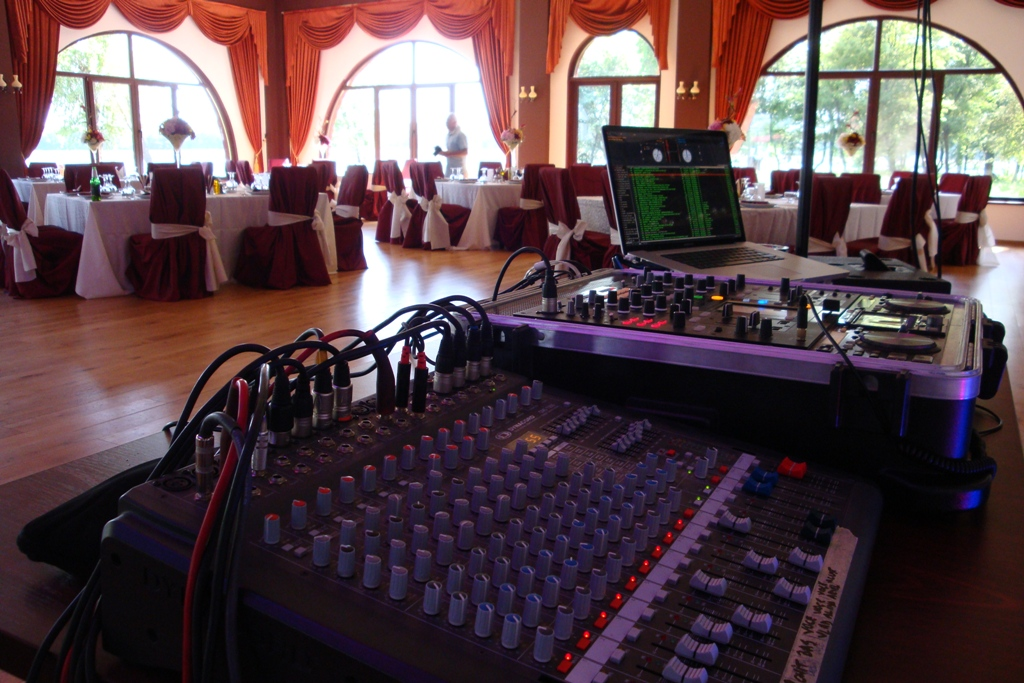 sound setup @ club Phoenix